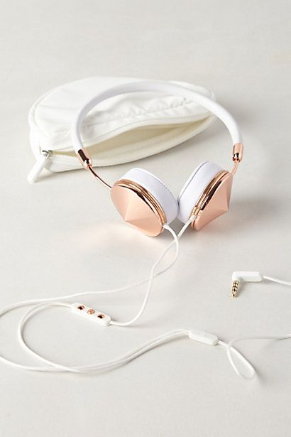 Leather-Wrapped Headphones, perfect #birthday gift #anthroregistry Frends headphones. Not really fashion but oh well.
