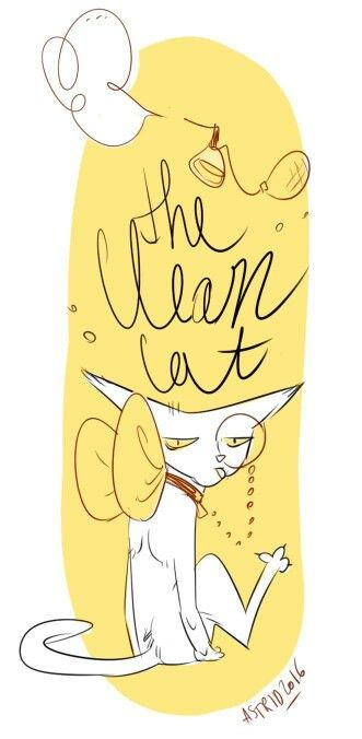 """""""The Clean cat"""" art by astrid #cat"""