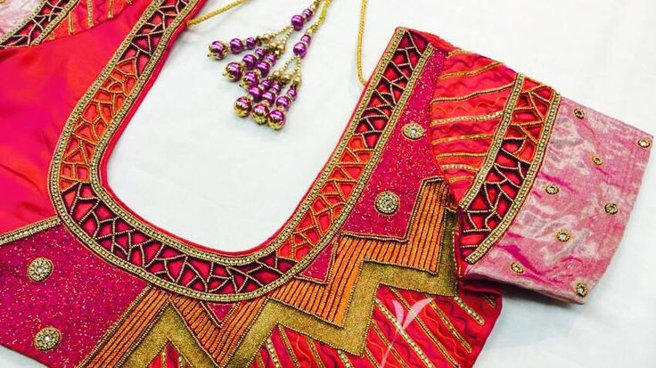 Hand crafted embroidery work of God, Goddesses and Gopuram on blouses has turned into a new trend. It has been seen regularly on South Indian brides. Though the traditions of it play one role, the concept of pop culture from the west makin...