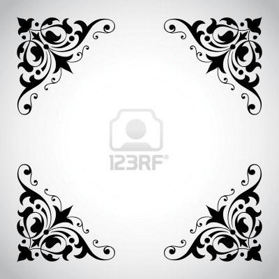 decorative corners | clip art- arts and crafts | Pinterest