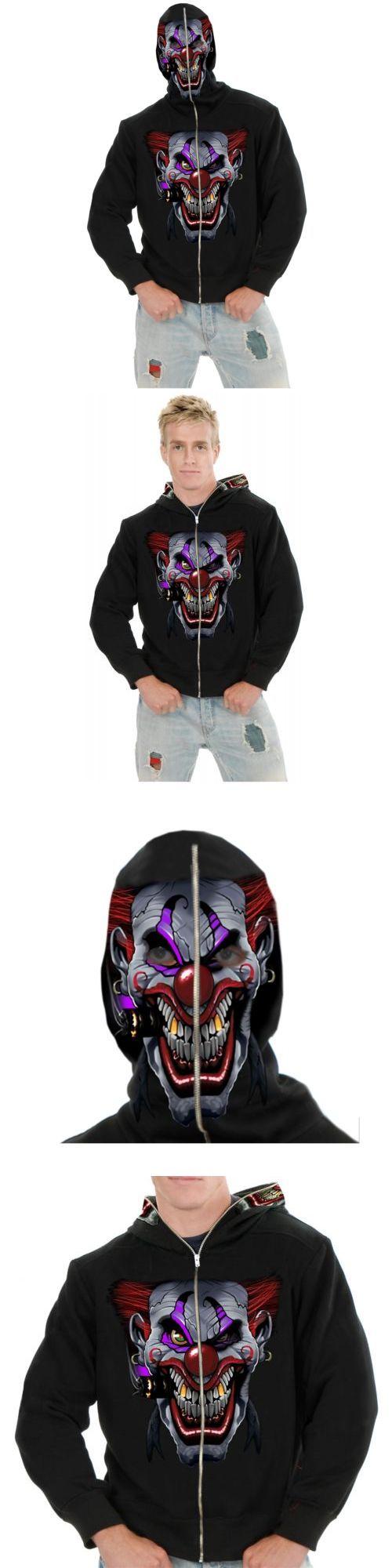 Boys 80913: Hi Ya Roy! Evil Clown Zip-Up Hoodie See-Thru Hood Mask Kids Halloween Costume -> BUY IT NOW ONLY: $38.99 on eBay!