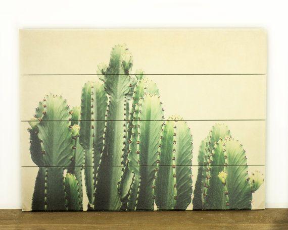 Cactus pannello in legno Art decorazione della di PureNaturePhotos