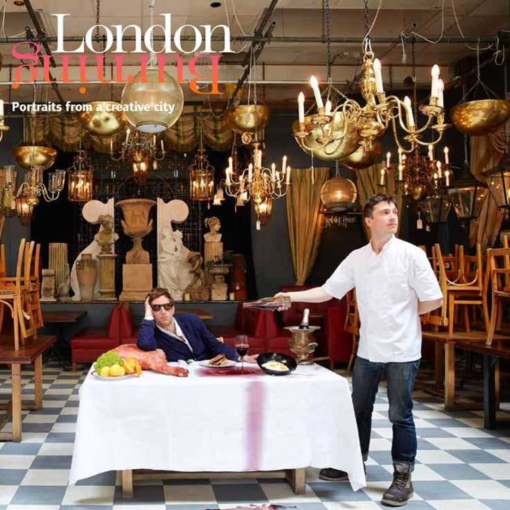 Feast or last supper for artist Henry Hudson and culinary guru Jackson Boxer ? ... Here at Brunswick House #londonburningbook   photo by Robin Friend Robin Friend
