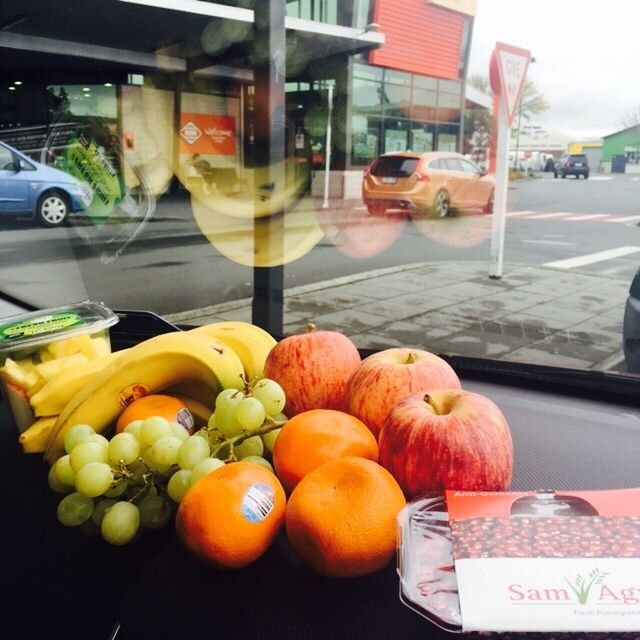 Roadtripping! Got to have snacks for on the road! 😋 Look what we just got at @NewWorld Te Rapa 🇳🇿 Tasty! 🍍🍏🍎🍊🍌🍇🍈🥝 #ironmantraining #travel