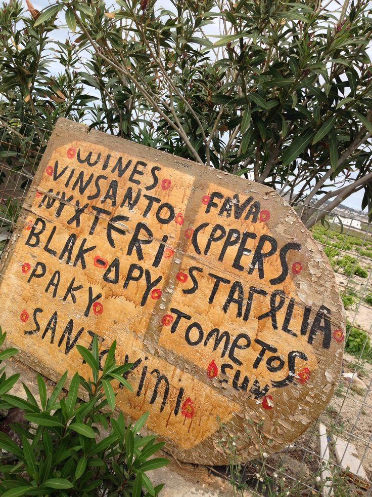 Santorinian products local road shop :-)