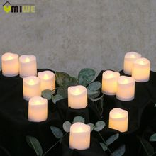 US $6.99 12pcs Flameless LED Candle Flicker Light Lamp Decoration Electric Battery-powered Candles Yellow Tea Light Party Wedding Candle. Aliexpress product