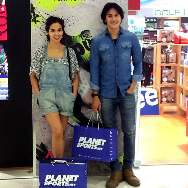 Vino G Bastian and Marsha Timothy2 just finished shopping at Planet Sports Senayan City. #MAPActiveFriends