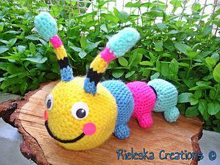 Crochet PDF Pattern- Crochet Colorful Hungry Caterpillar