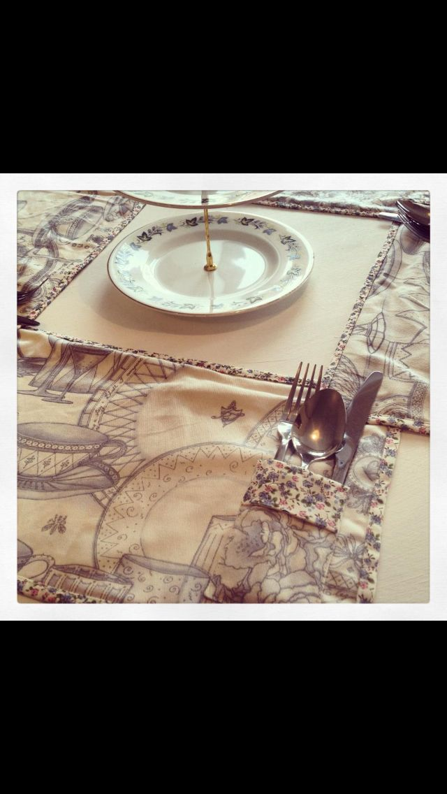 Place mats with cutlery pocket, set of 4, £20