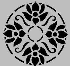 Resultado de imagen para floral stencil templates