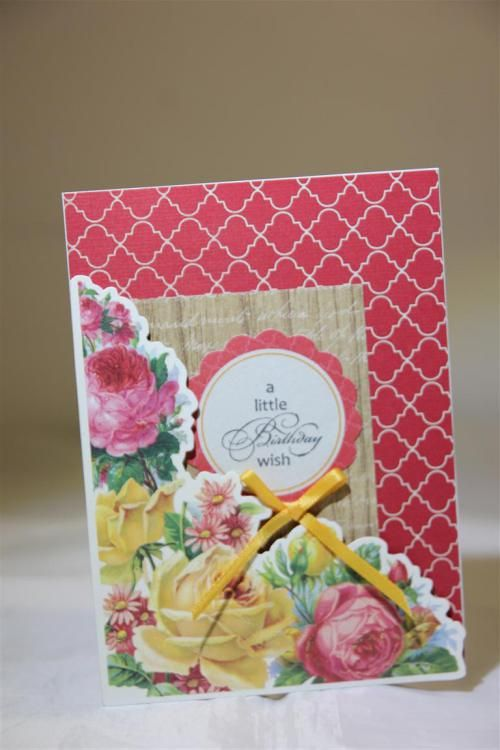 "Kaisercraft ""tropical Punch"" card 5 by Helen of Helen's Card Designs - Wendy Schultz ~ Cards Clean & Simple."