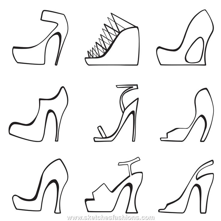 How to design and Sketch fashion Shoes | Sketches Fashions