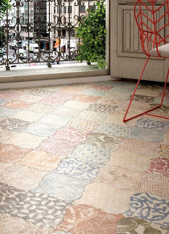 Ceramic floor #tiles CURVYTILE by EQUIPE CERAMICAS @equipeceramicas