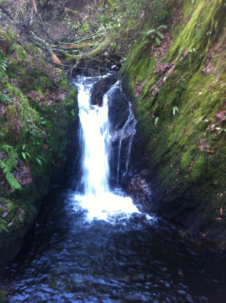 Waterfall at Morags Fairy Glen, Dunoon, Scotland.