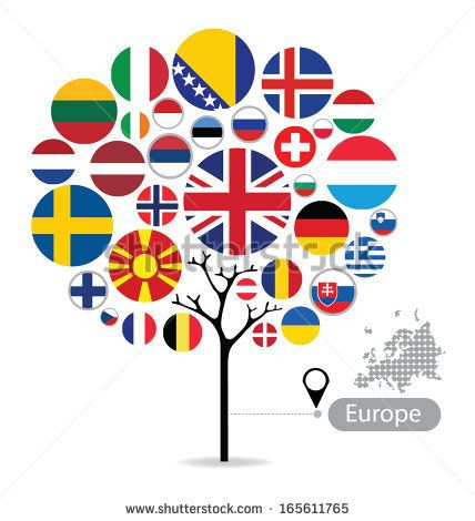 Flag tree European Flags Pinterest
