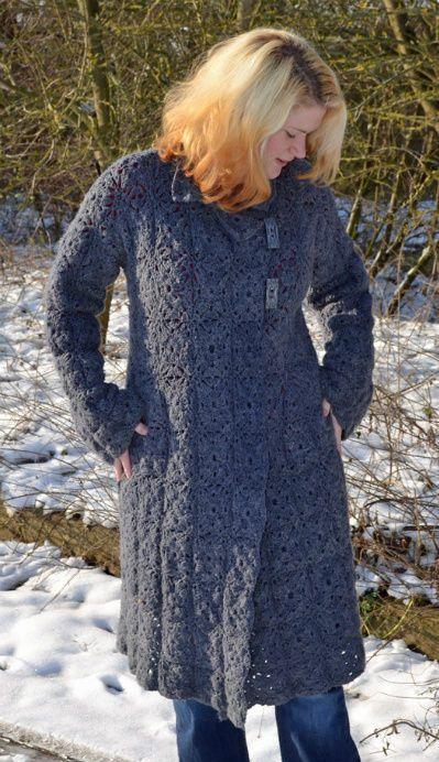 beautiful crochet coat