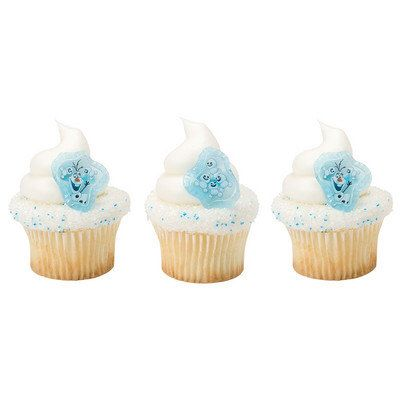 12 FROZEN FEVER Buddy Olaf Cupcake Cake toppers rings birthday party supplies favors decorations Disney Movie by BigCatCrafts on Etsy https://www.etsy.com/listing/253191854/12-frozen-fever-buddy-olaf-cupcake-cake