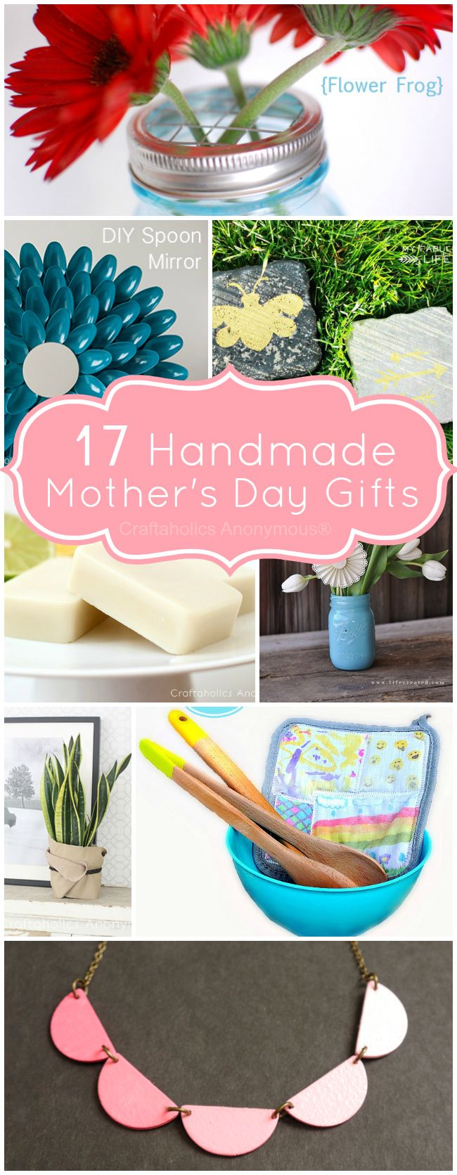 17 Handmade Mother's Day Gifts. Loads of easy gift ideas! #handmade #mothers_day #gifts