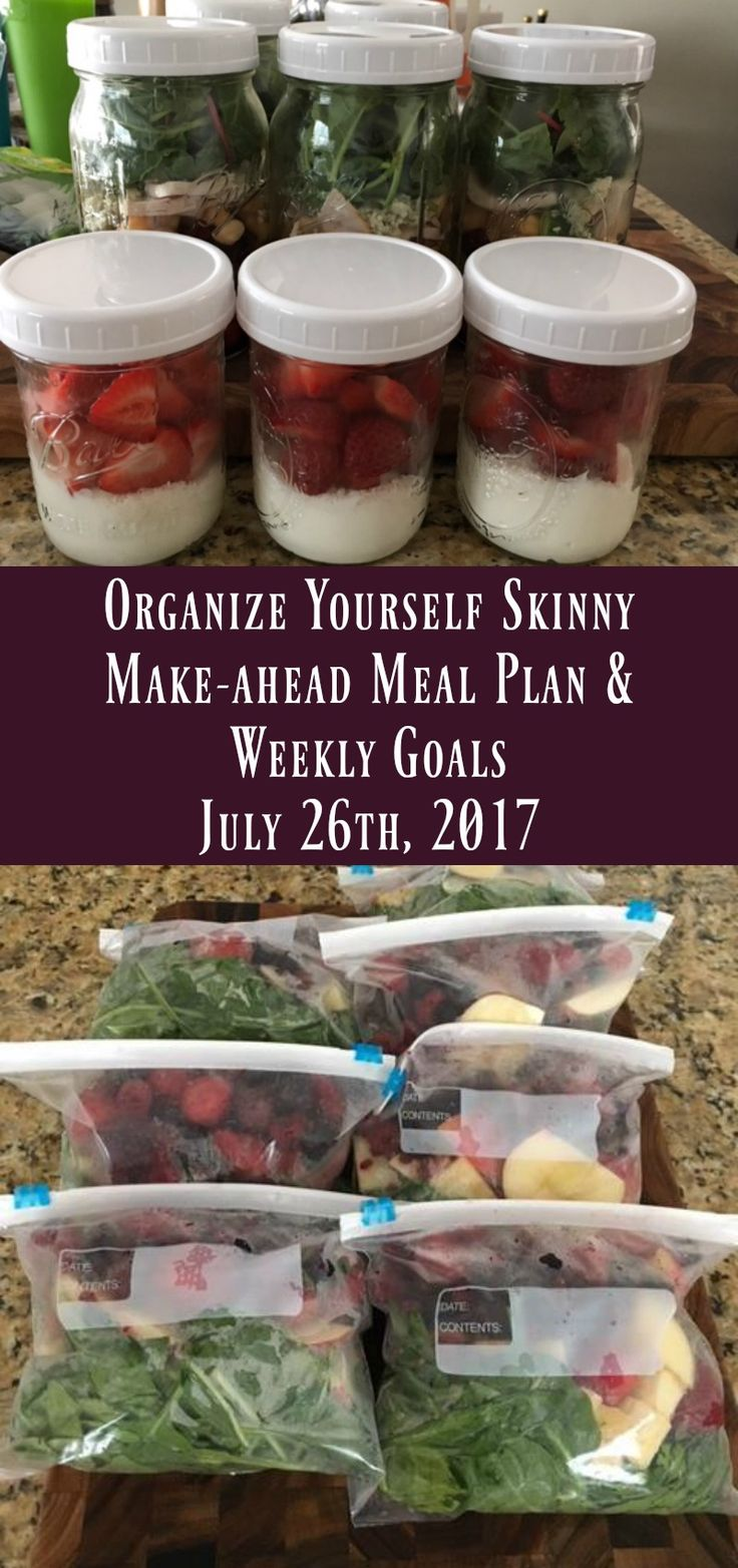Weekly Meal Prep Meal Plan and weight loss Goals For the Week