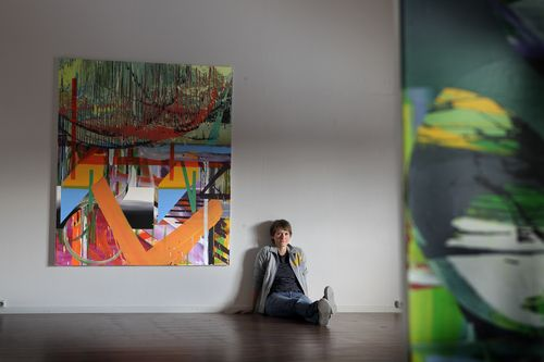 THE ART OF MONA ORSTAD HANSEN  Mona's work is bold, abstract and in some cases difficult. She is trying to straddle the vast divides between art, architecture and nature. More often than not, she does this with absolute class and beauty, creating works that are joyous, colourful, engaging and a feast for the eyes. photo: Anders Minge