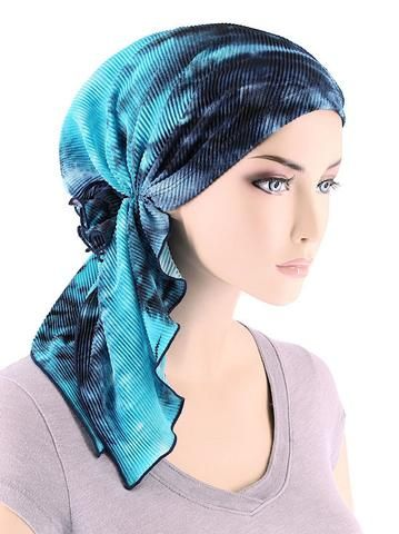 The Bella Scarf is made specifically for women undergoing hair loss. If your looking for a product that is easy to wear & fashionable, the Bella Scarf would be a perfect fit. Our Bella's are pre-forme