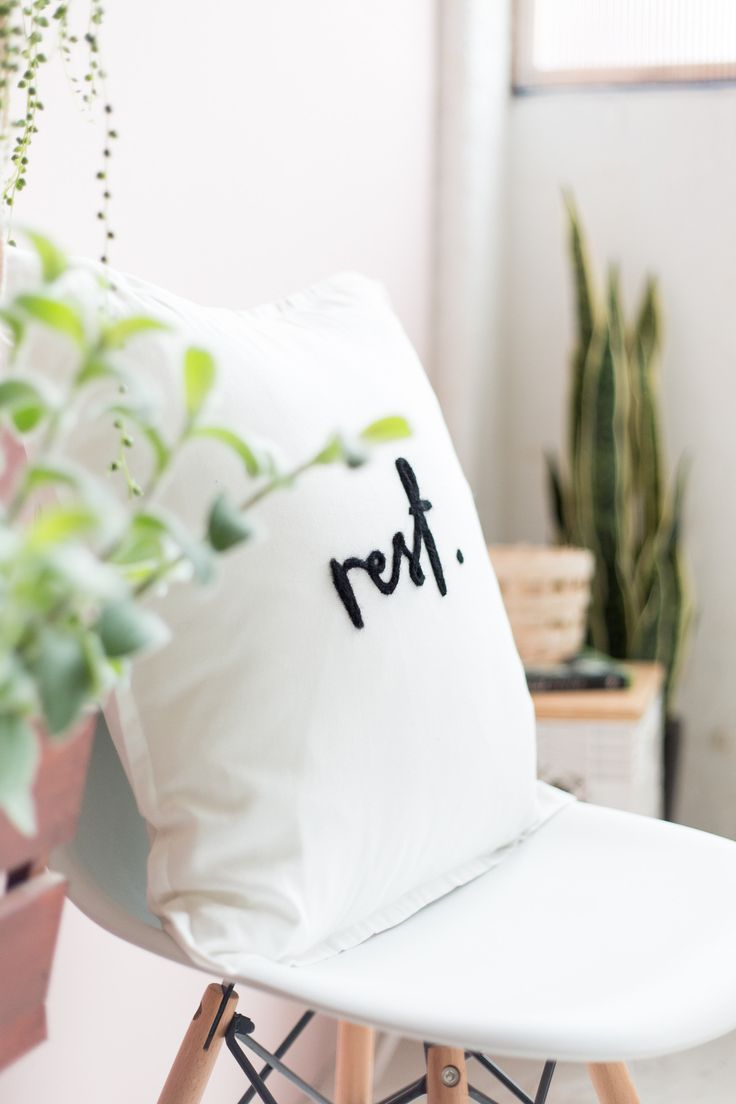 DIY Needle Felted Word Cushion