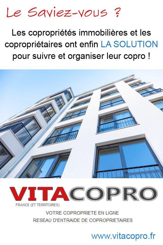VitaCopro est le service en ligne le plus complet pour suivre et organiser sa copropriété immobilière. Il s'adresse aux copropriétaires, aux membres du conseil syndical, aux résidents, et aussi aux syndics. Une solution de gestion de copropriété en ligne simple et efficace. Abonnez votre copropriété et commencez à mieux la vivre :)