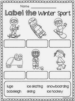 Second Grade Nest: Saturday Session with a Winter Sport Freebie