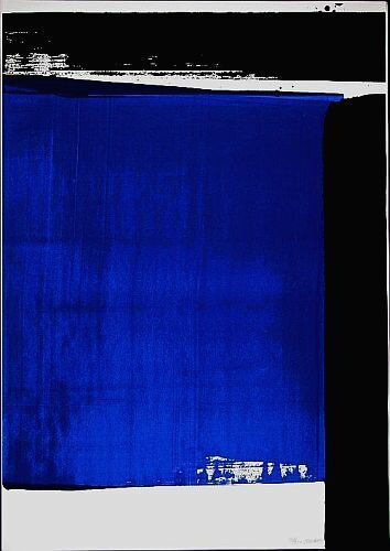 pierre soulages- some of my paintings are very similar to this!