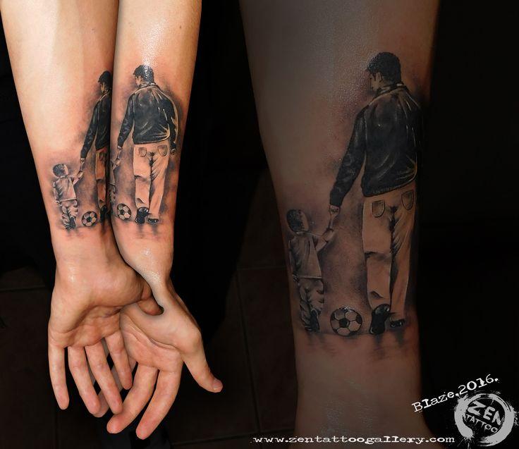 Father and son; tattoo by Blaze www.facebook.com/zentattoozagreb www.zentattoogallery.com