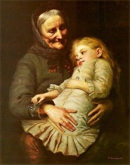 By Aleksander Mroczkowski (Polish painter 1850-1927)