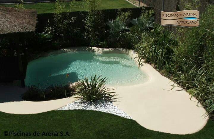 Piscinas de arena paisajismo patios y piscinas en - Arena para piscinas ...
