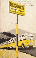 GTW dienstregeling 1955 (Arthur-A) Tags: bus netherlands buses nederland autobus timetable gtw gelderland horaire bussen fahrplan dienstregeling