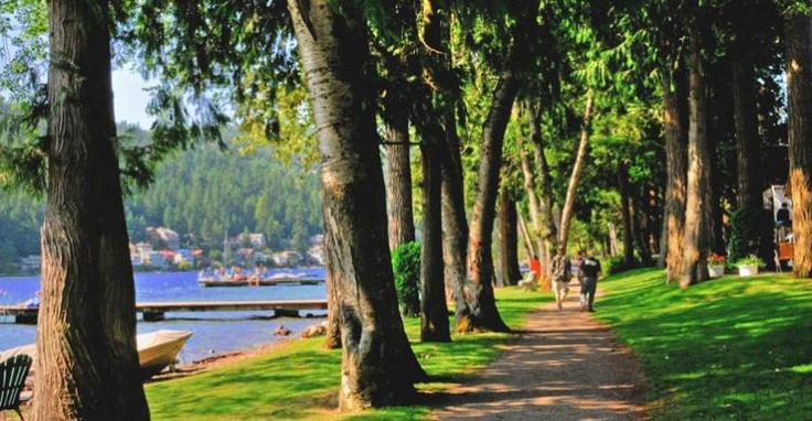 Walking by Cultus Lake - Image Copyright Ken Bramble