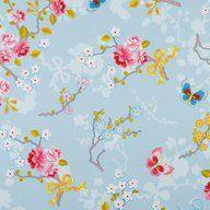 Chinese Rose Blå , tapet från Pip Studio