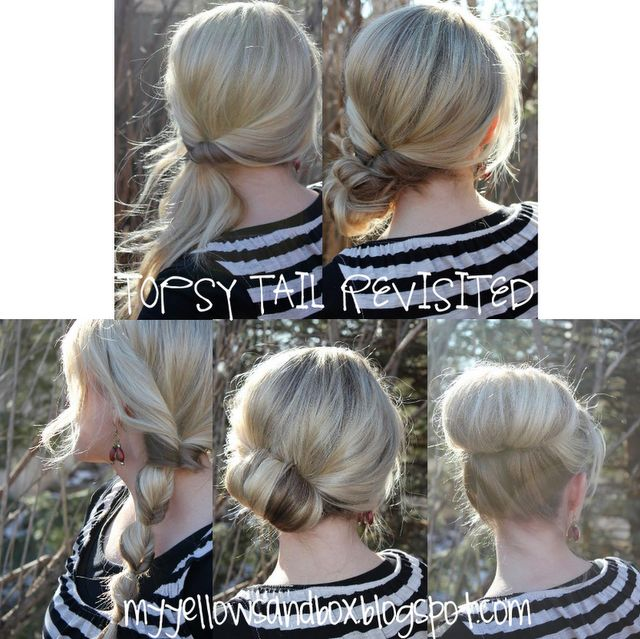 For someone who wears their hair in a pony everyday...Hair Ideas, Easy Hairstyles, Hair Tutorials, High Buns, Long Hair, Topsy Tail, Hair Style, Updo, Topsytail
