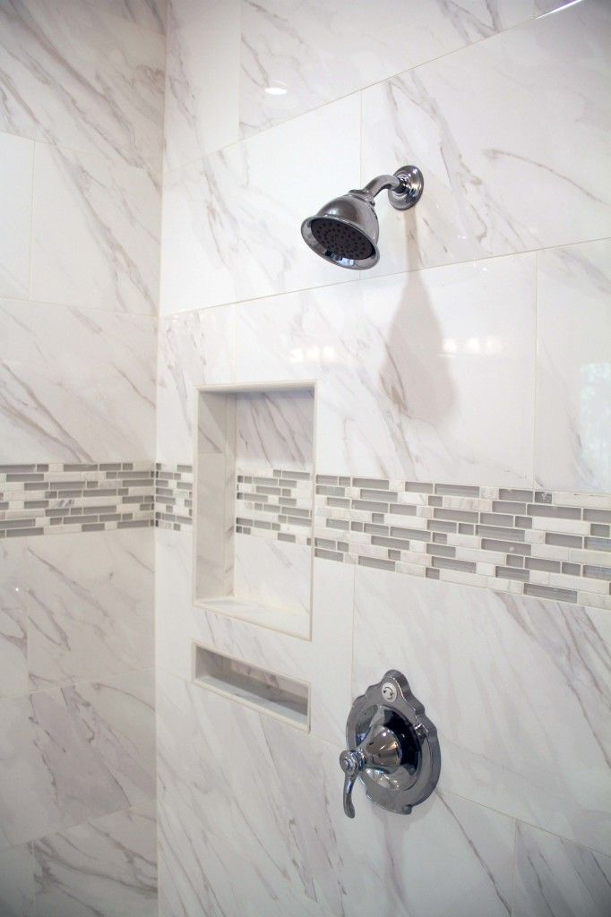 Soak Gray Listello With Our Double Shower Niche Nailed