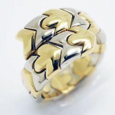 auth bvlgari snake tubogas ring 18k yellow gold 8