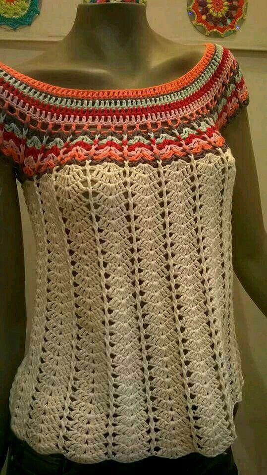 ♥ DIY... Inspiring Crochet Idea ♥  Beautiful Gorgeous Crochet Blouse