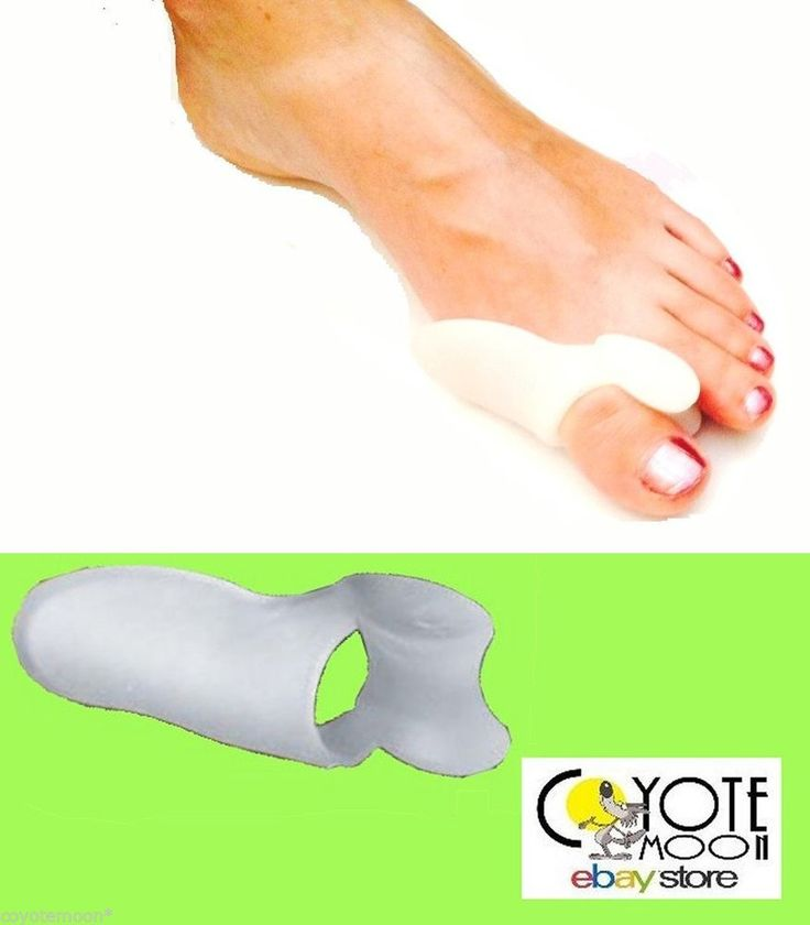 2 pack Silicone Gel Pad Bunion Toe Protector Separator Straighteners Corrector