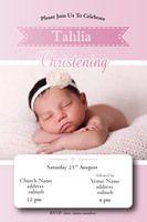 Holy - Pink..Girl's Christening Invitation #invitations #christening