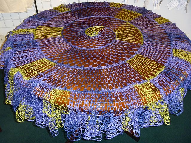Ruffle yarn put to good use  Ravelry: Kelp Forest Shawlette pattern by karinknits designs
