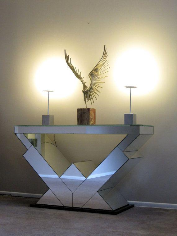 Art Deco Mirrored Console Table