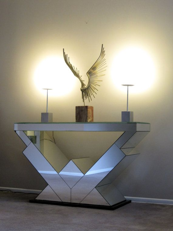 art deco mirrored console table by contentshome on etsy 179500 art deco consoles tables deco mirrored credenzas art art nouveau mirrored console art deco office credenza