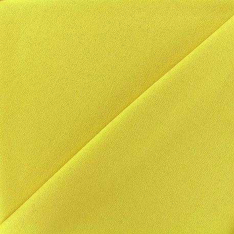 Tissu Crêpe Chemisier - jaune clair x 10cm