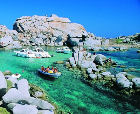 "Capo Testa- an area in Sardinia described as ""perfect for climbing and swimming."" Looks about right!"