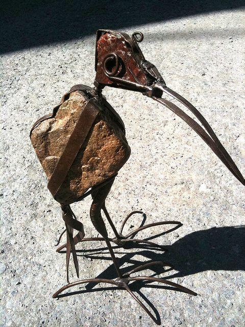 Steampunk bird sculpture by Quba Michalski, via Flickr