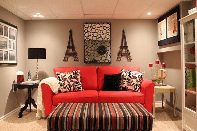 17 Stylish Living Room Designs With Red Couches