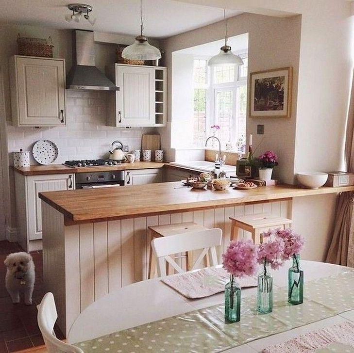 50 Affordable Kitchen Dining Room Design Ideas For Eating With Family Cocinas De Casa Decoracion De Cocina Salon Con Cocina Americana