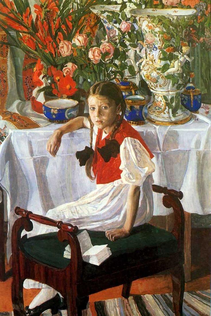 1916 ФРОСЯ (ДЕВОЧКА И ФАРФОР) by Boris Kustodiev (1878~1927)